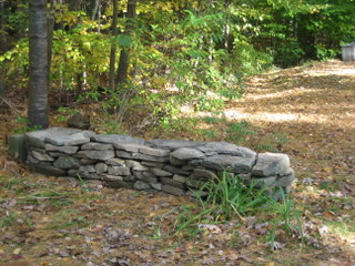 photograph of the stone wall I built